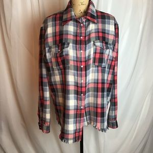 One Teaspoon Marquee Liberty Plaid Button Down